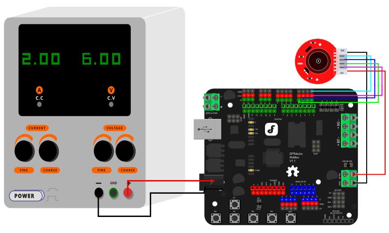 电机6V供电接线图-示例代码1