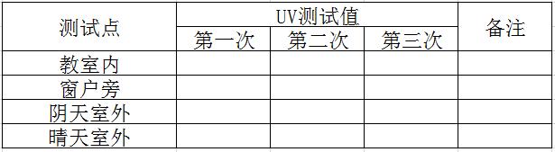 紫外线记录表