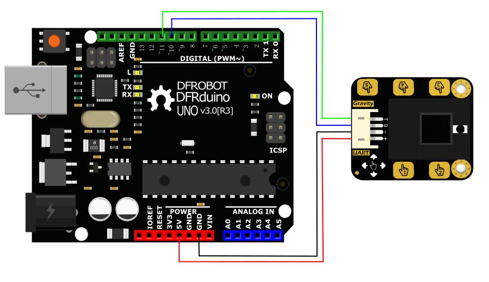 手势识别传感器arduino接线