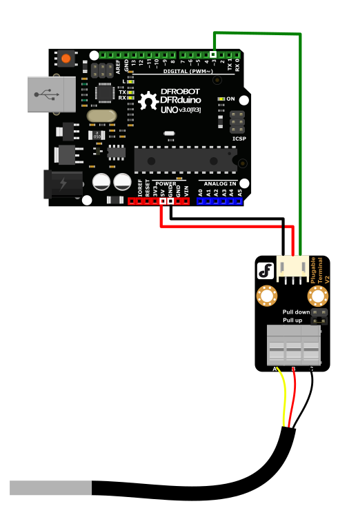 DS18B20传感器连接图