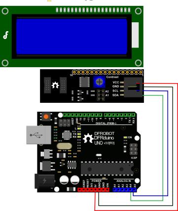 I2C LCD 连线图