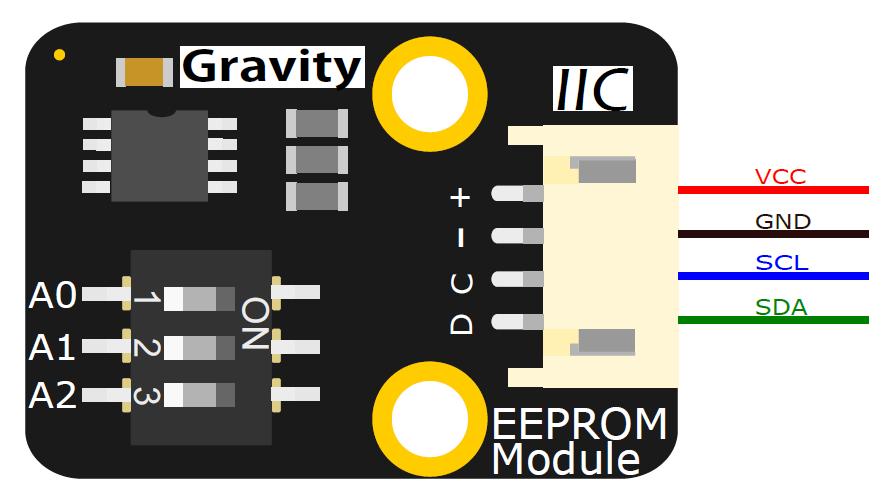 DFR0117 EEPROM数据存储模块引脚图