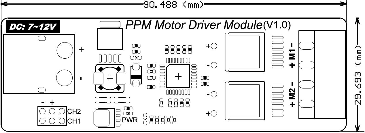 PPM Motor Driver Module尺寸图