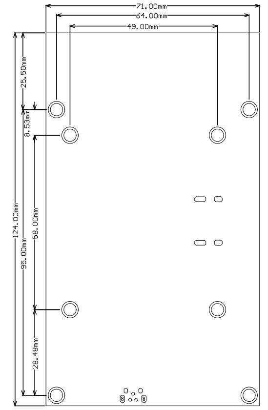 5.5寸触摸屏PCB尺寸图