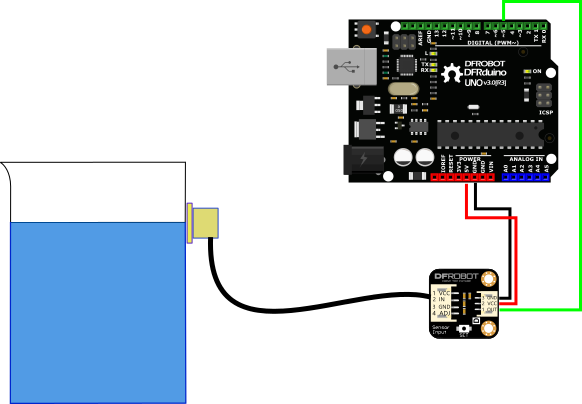 液位传感器Liquid Level Sensor-XKC-Y25-T12V转接板接线图