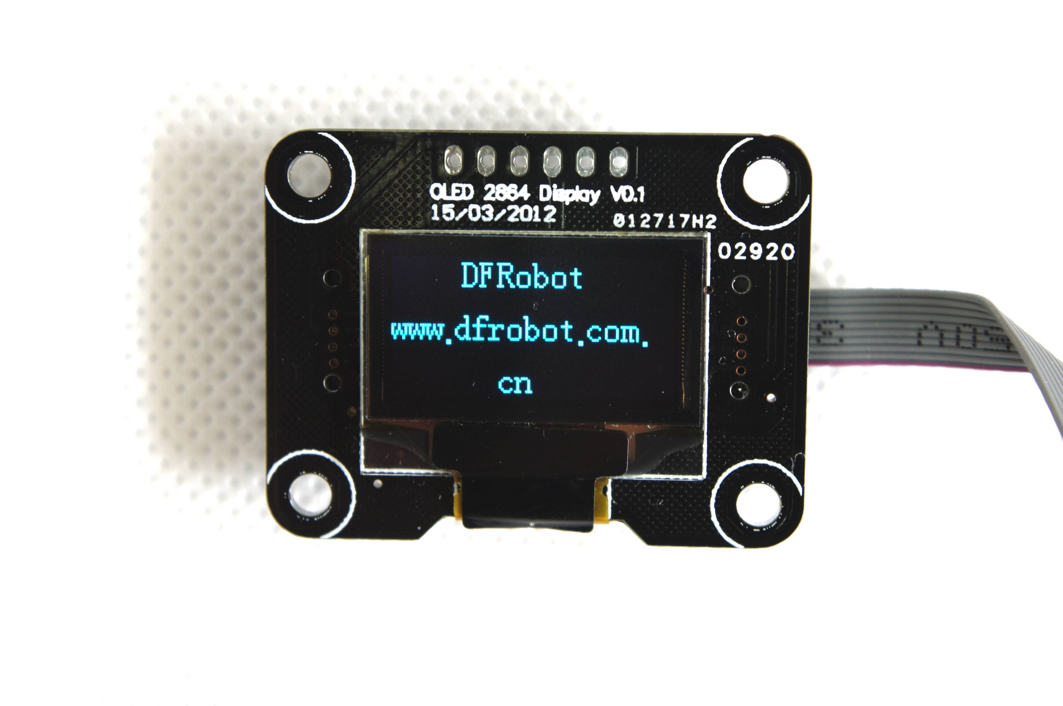 OLED 2864 display module(.NET Gadgeteer Compatible) (SKU:TOY0007)