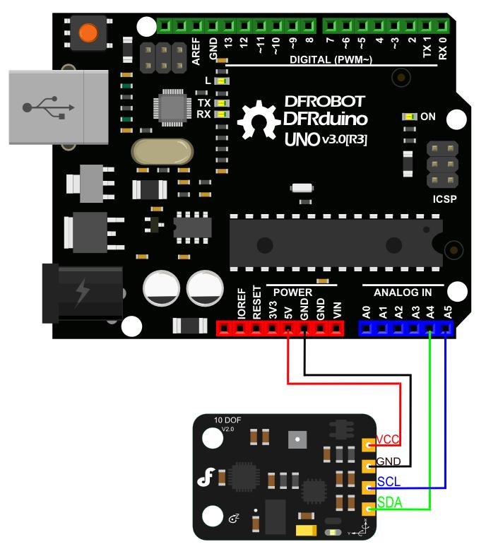 SEN0140 V2.0连接图
