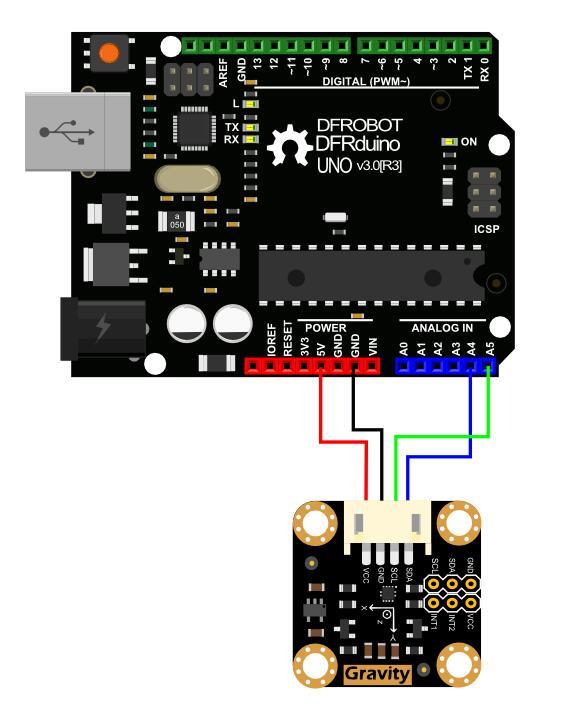Arduino LIS2DH 三轴加速度传感器