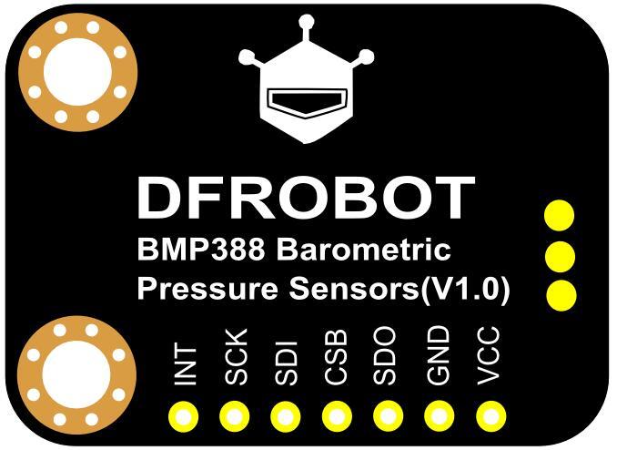 BMP388气压温度传感器背面引脚说明