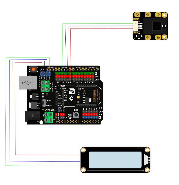 手势识别传感器LCD接线