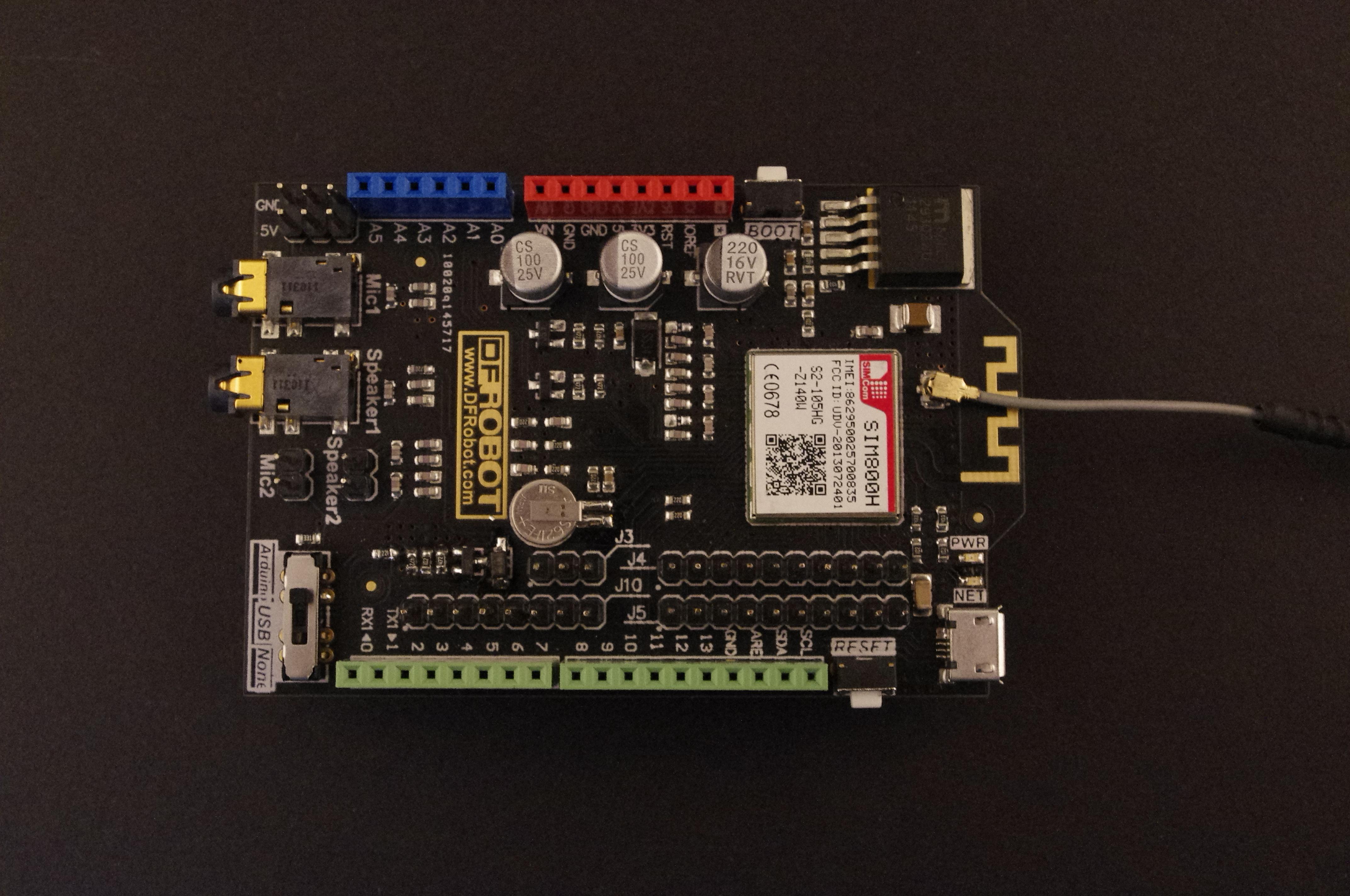 SIM800H GPRS Shield V1.0通信模块