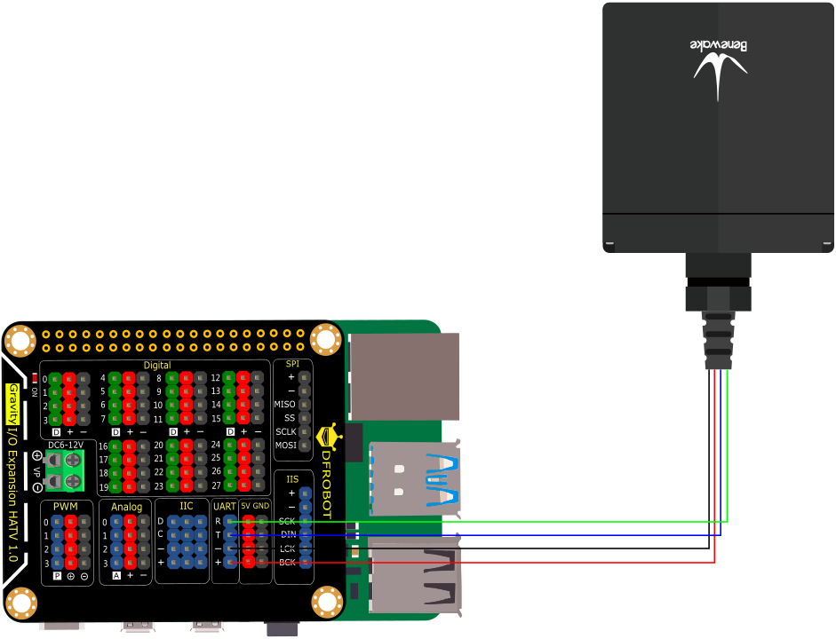 Raspberry Pi与TF03连接图