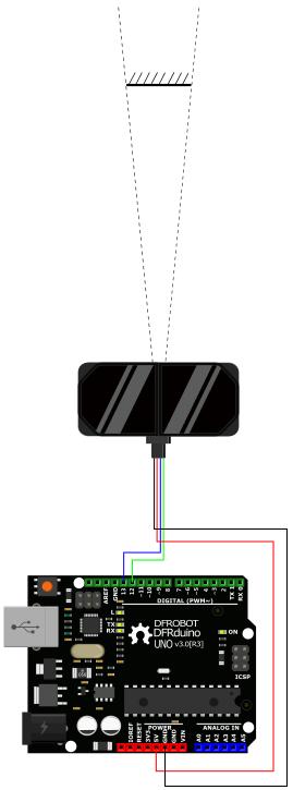 TFmini Plus串口显示接法