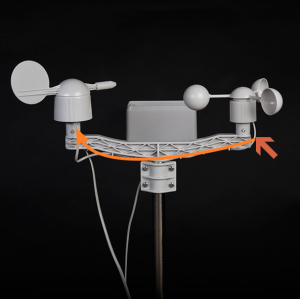 For A4, Anemometer was connected to Wind vane module