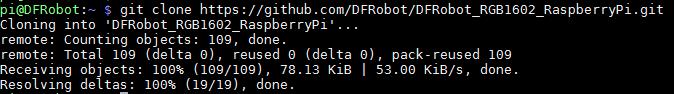下载DFRobot_RGB1602_RaspberryPi库